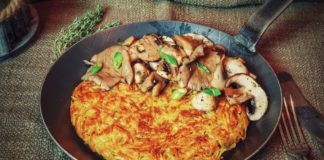 Schweizer Rösti mit Pilzen