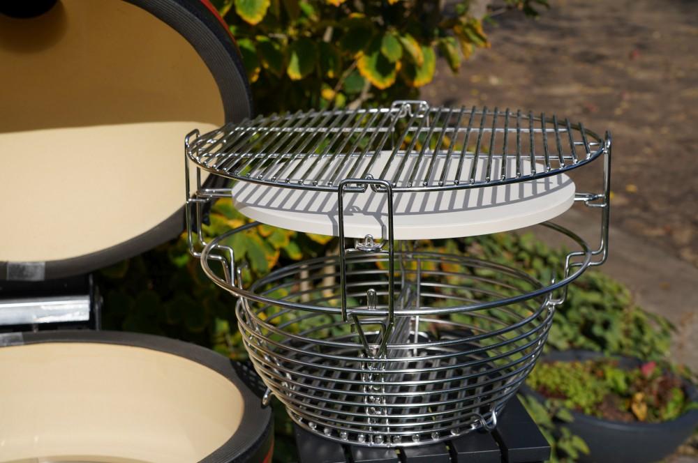 Divide & Conquer System mit drei Ebenen kamado joe classic iii-Kamado Joe Classic III Keramikgrill Test 03-Kamado Joe Classic III Keramikgrill im Test