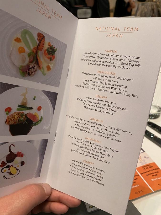 Das Menü des japanischen Nationalteams olympiade der köche-Olympiade der Koeche IKA Culinary Olympics 04-Olympiade der Köche – IKA Culinary Olympics 2020 in Stuttgart