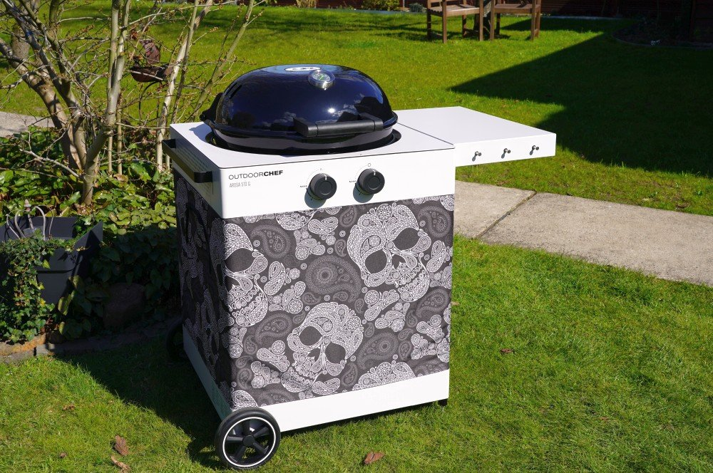 Outdoorchef Arosa 570 G Tex in skull paisley outdoorchef arosa 570 g tex-Outdoorchef Arosa 570G Tex 09-Outdoorchef Arosa 570 G Tex – Der Gaskugelgrill für Individualisten