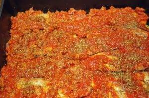 moussaka-Moussaka griechischer Auberginen Auflauf 07 300x199-Moussaka – Griechischer Auflauf mit Auberginen, Hack und Kartoffeln