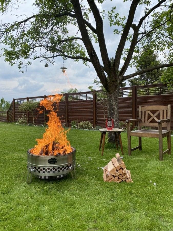 Der Feuerhand Tyropit verbrennt raucharm und effizient feuerhand tyropit-Feuerhand Tyropit Feuerschale 09-Feuerhand Tyropit Feuerschale aus Edelstahl