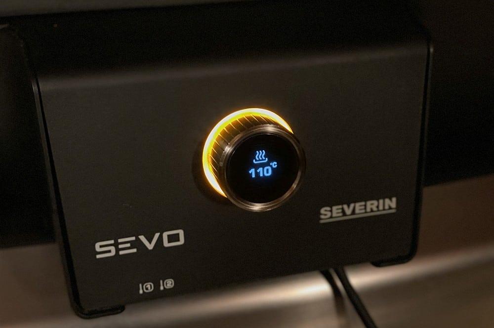 Der Severin SEVO GTS wird auf 110°C aufgeheizt beef brisket vom elektrogrill-Beef Brisket vom Elektrogrill 03-Beef Brisket vom Elektrogrill beef brisket vom elektrogrill-Beef Brisket vom Elektrogrill 03-Beef Brisket vom Elektrogrill