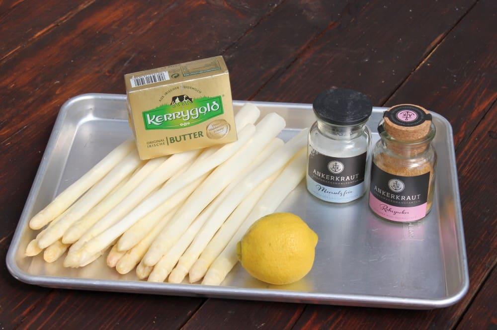 Alle Zutaten für Spargel vom Grill auf einen Blick spargel vom grill-Spargel vom Grill 01-Spargel vom Grill – Weißen Spargel grillen
