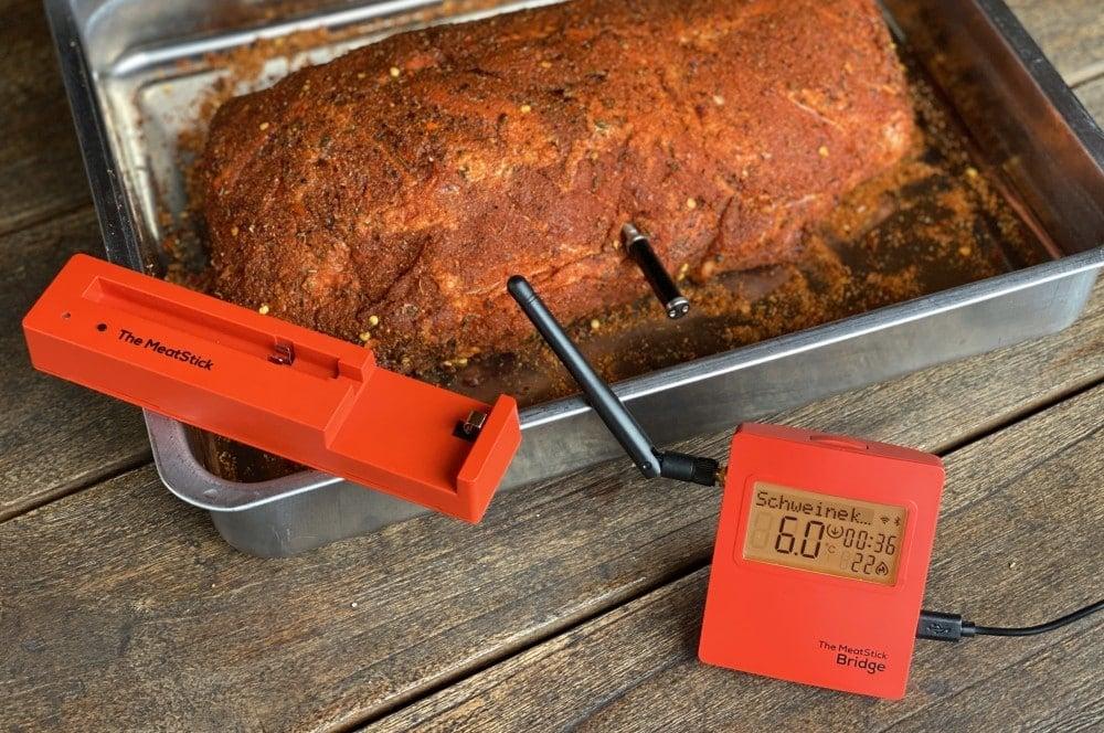 Startemperatur 6°C beim Pulled Pork meatstick-MeatStick Fleischthermometer Test 03-MeatStick Fleischthermometer im BBQPit-Test