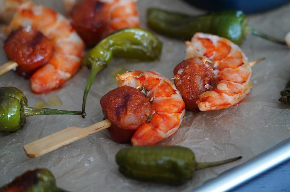 Chorizo Garnelen vom Severin SEVO GTS chorizo garnelen-Chorizo Garnelen Tapas 06-Chorizo Garnelen – ideales Tapas & Fingerfood Rezept