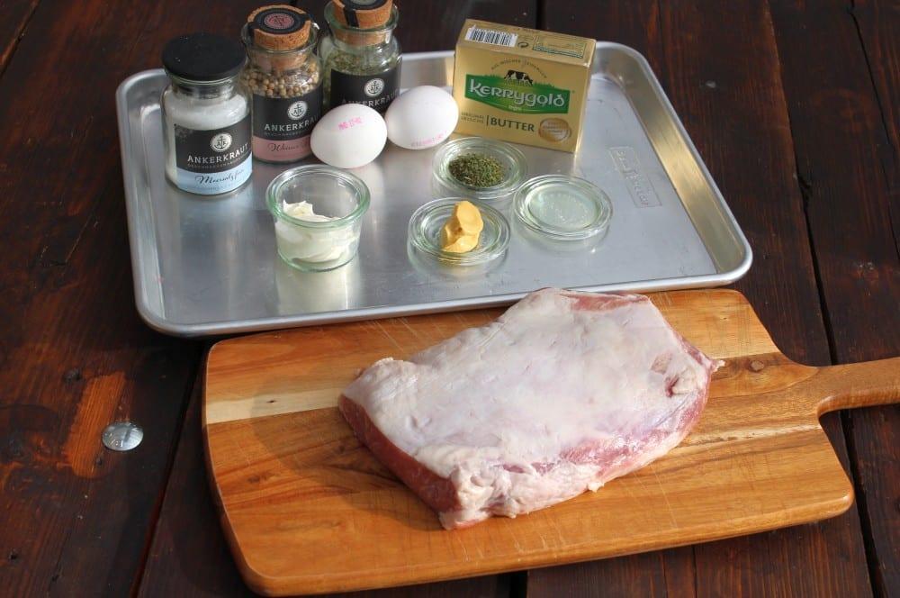 Alle Zutaten für Ibérico Lomo mit Sauce Béarnaise auf einen Blick ibérico lomo-Iberico Lomo Sauce Bernaise 01-Ibérico Lomo mit Sauce Béarnaise