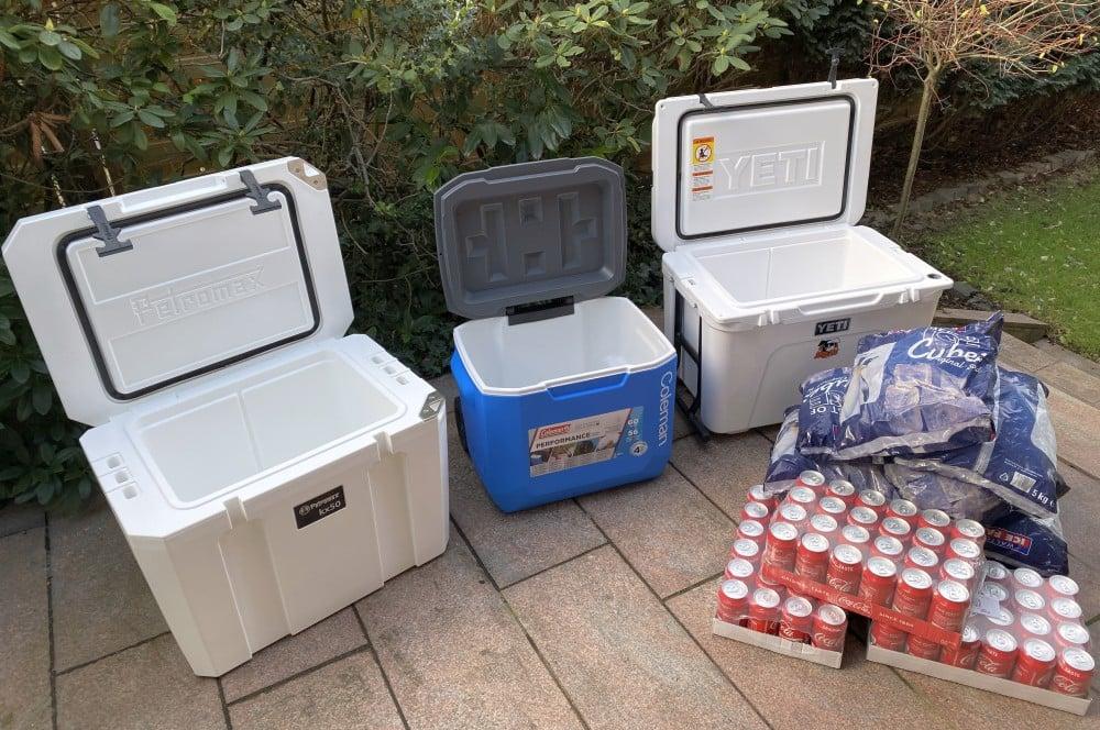 Der Kühlbox-Test startet kühlbox-test-Kuehlbox Test Petromax Yeti Coleman 03-Kühlbox-Test – Petromax kx50, Coleman & YETI im Vergleich