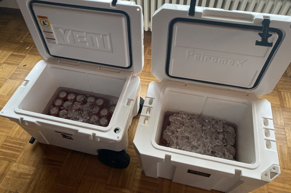 Die Petromax kx50 ist an Tag 7 deutlich vorne kühlbox-test-Kuehlbox Test Petromax Yeti Coleman 15-Kühlbox-Test – Petromax kx50, Coleman & YETI im Vergleich