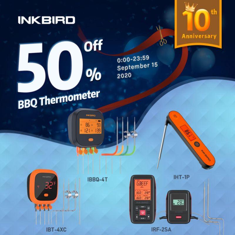 Bis zu 50% Rabatt auf Inkbird Thermometer 50% rabatt auf inkbird-thermometer-Inkbird 50 Prozent Rabatt 01-Nur heute: 50% Rabatt auf Inkbird-Thermometer!