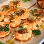Seafood-Spieße jakobsmuschel-garnelen-spieße-Jakobsmuschel Garnelen Spiesse 150x150-Jakobsmuschel-Garnelen-Spieße mit Kräuteröl und gegrillter Zitrone