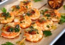 Seafood-Spieße
