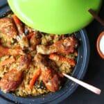 Marokkanische Tajine tajine-Tajine marokkanisch 150x150-Tajine – Marokkanisches Schmorgericht mit Hähnchen und Couscous