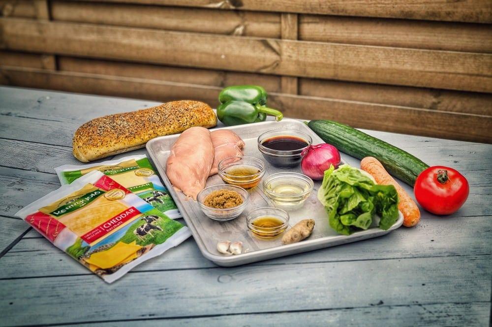 Alle Zutaten für das Chicken Teriyaki Sandwich auf einen Blick chicken teriyaki sandwich-Chicken Teriyaki Sandwich 01-Chicken Teriyaki Sandwich