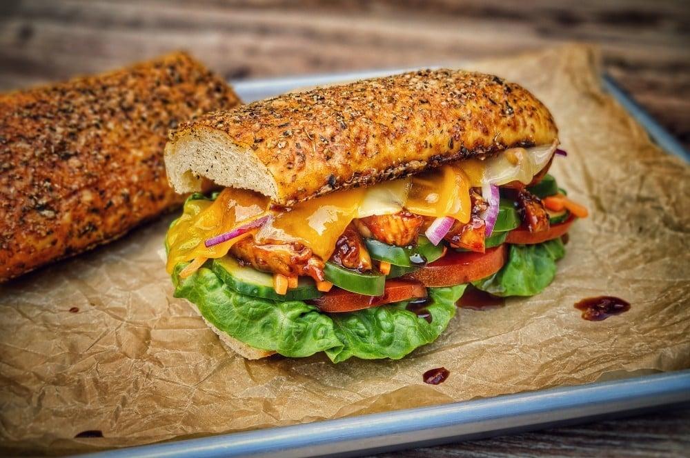 Das Chicken Teriyaki Sandwich ist fertig chicken teriyaki sandwich-Chicken Teriyaki Sandwich 05-Chicken Teriyaki Sandwich