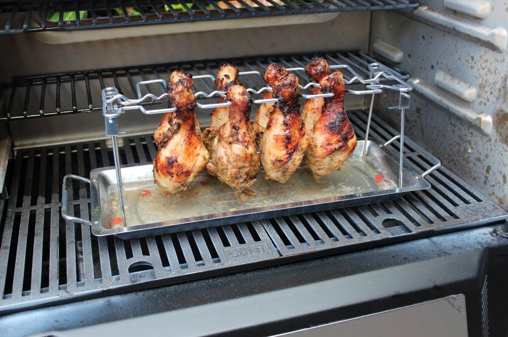 Die Drumsticks werden knapp eine Stunde gegrillt jamaican jerk chicken-Jamaican Jerk Chicken 05-Jamaican Jerk Chicken