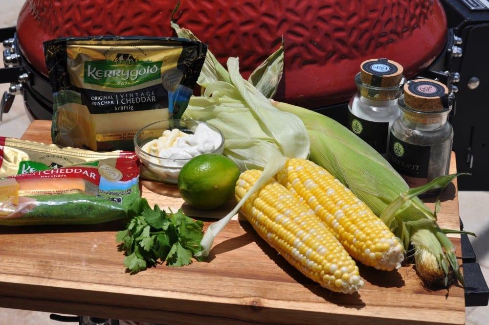 Alle Zutaten für Elote auf einen Blick elote-Elote Mexikanischer Streetfood Mais 02-Elote – Mexikanischer Streetfood Mais