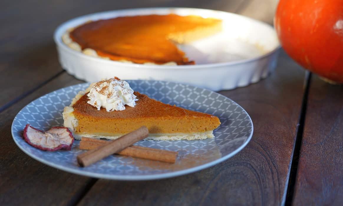 Kürbiskuchen pumpkin pie-Pumpkin Pie Kuerbiskuchen-Pumpkin Pie – Rezept für amerikanischen Kürsbiskuchen