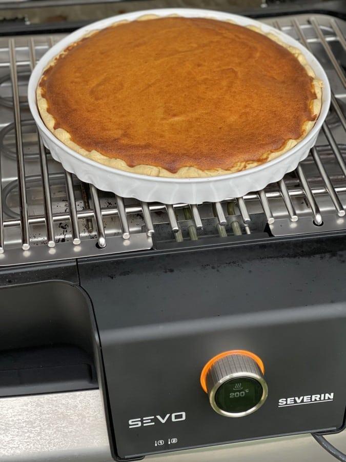 Der Pumpkin Pie ist nach ca. 60 Minuten fertig pumpkin pie-Pumpkin Pie Kuerbiskuchen 06-Pumpkin Pie – Rezept für amerikanischen Kürsbiskuchen