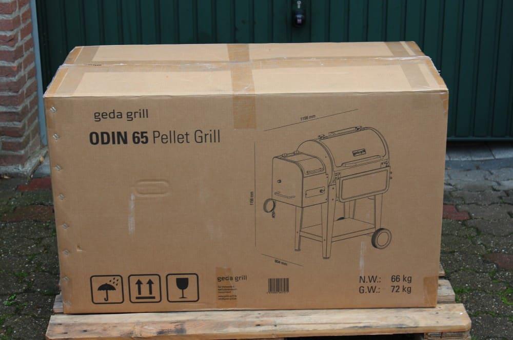 So wird der Odin 65 Pelletgrill von GEDA geliefert geda pelletgrill odin 65-GEDA Pelletgrill Odin 65 Test 01-GEDA Pelletgrill Odin 65 im Test
