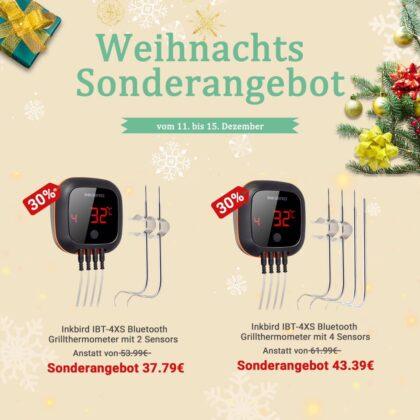 inkbird weihnachtsangebote-InbirdIBT 4XS Weihnachtsangebot 420x420-Inkbird Weihnachtsangebote – Bis zu 40% Rabatt auf Thermometer