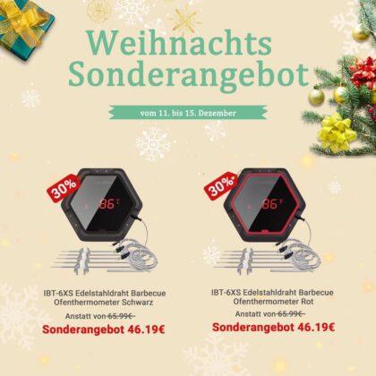 inkbird weihnachtsangebote-InkbirdIBT 6XS Weihnachtsangebot 420x420-Inkbird Weihnachtsangebote – Bis zu 40% Rabatt auf Thermometer