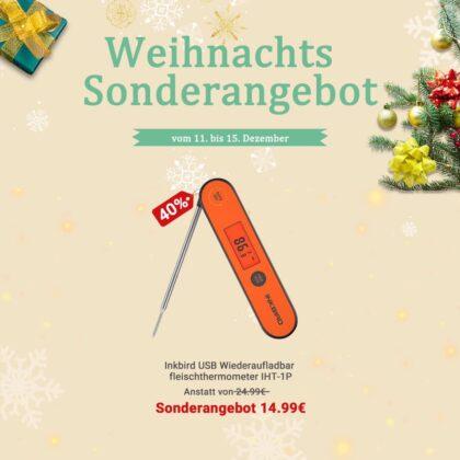 inkbird weihnachtsangebote-InkbirdIHT 1P Weihnachtsangebot 420x420-Inkbird Weihnachtsangebote – Bis zu 40% Rabatt auf Thermometer