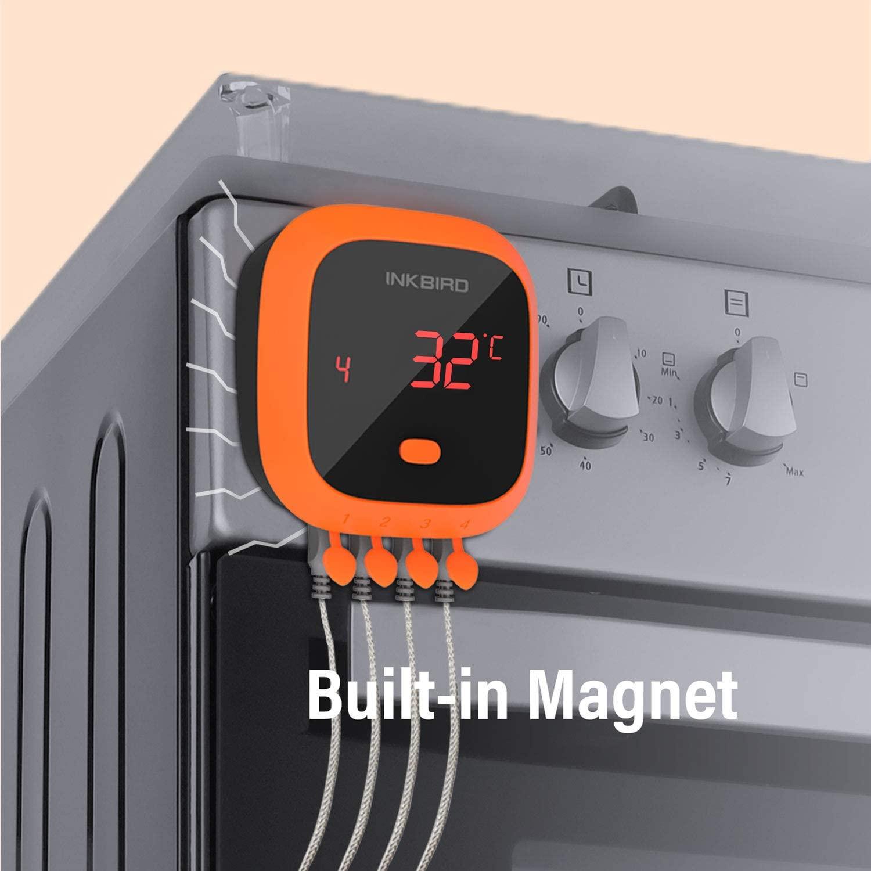Das Inkbird IBT-4XC hat einen eingebauten Magneten zur Befestigung am Grill inkbird ibt-4xc-Inkbird Grillthermometer IBT 4XC 01-Last Minute Weihnachtskracher: 50% Rabatt auf Inkbird IBT-4XC Grillthermometer