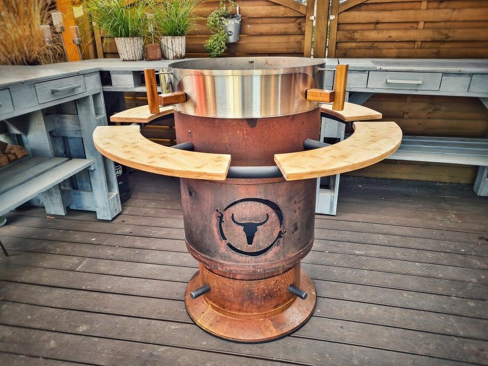 Auch  der Pizzaring passt auf den Bandit moesta-bbq bandit-Moesta BBQ Bandit Fireplace Feuertonne Deluxe 05-Moesta-BBQ Bandit Fireplace – Die Feuertonne deluxe!