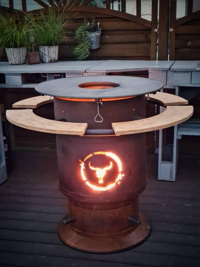 Das lodernde Feuer im Bandit moesta-bbq bandit-Moesta BBQ Bandit Fireplace Feuertonne Deluxe 10-Moesta-BBQ Bandit Fireplace – Die Feuertonne deluxe!