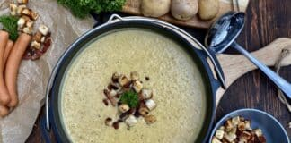 Kartoffelsuppe aus dem Dutch Oven