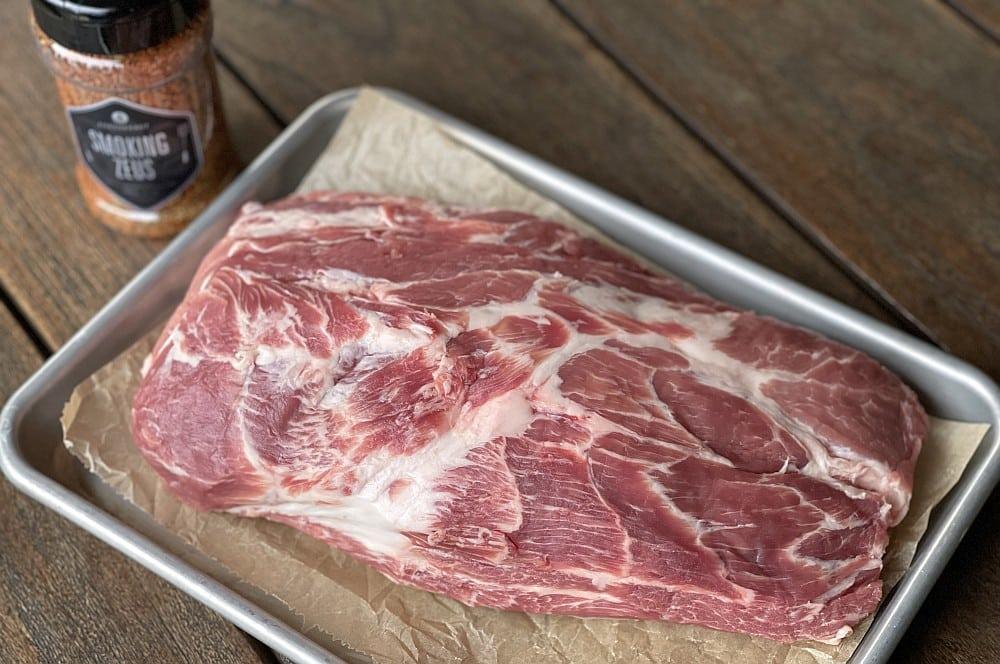 """Alle Zutaten für griechisches Pulled Pork auf einen Blick griechisches pulled pork-Griechisches Pulled Pork Smoking Zeus 01-Griechisches Pulled Pork """"Smoking Zeus"""""""