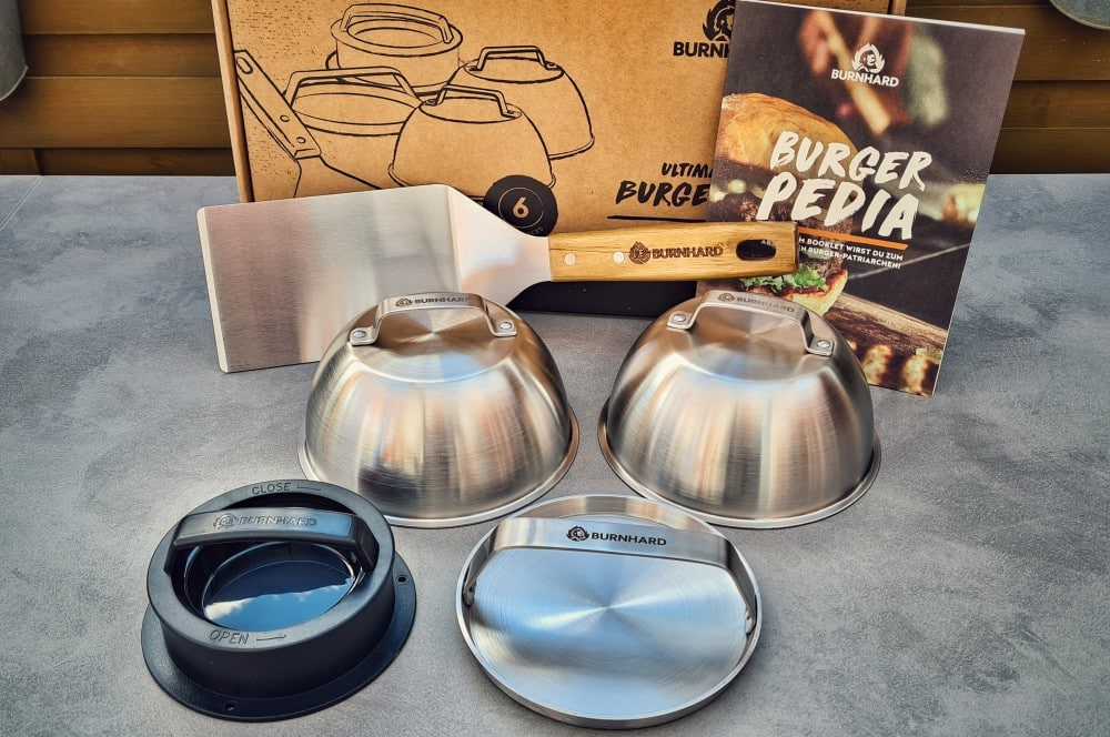 Das 6-teilige Burger-Set auf einen Blick ultimatives burger-set-Burnhard ultimatives Burgerset 02-Ultimatives Burger-Set von BURNHARD im BBQPit-Quickcheck