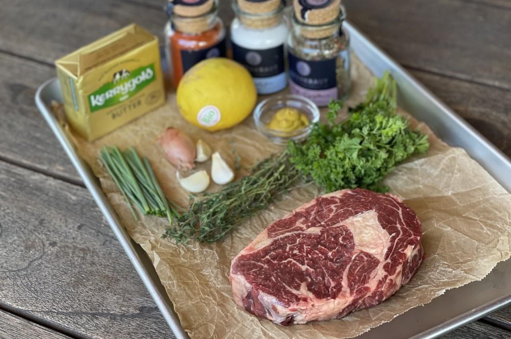 Alle Zutaten für RibEye-Steak mit Cowboy Butter auf einen Blick ribeye-steak mit cowboy butter-RibEye Steak Cowboy Butter 01-RibEye-Steak mit Cowboy Butter